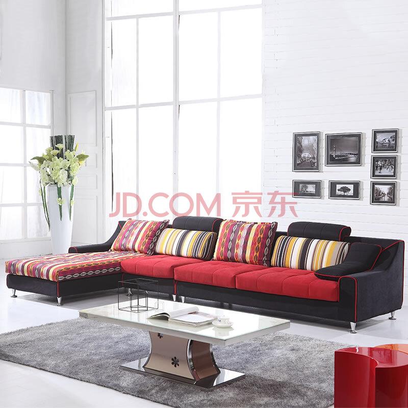 柏思诺 欧式布艺沙发组合 贵妃三人单人床懒人 客厅家具