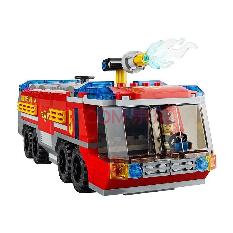 乐高(lego)积木玩具城市系列机场消防车积木拼插玩具l60061