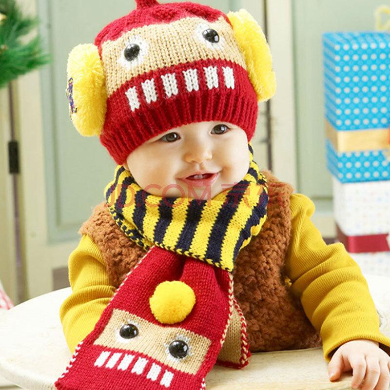 儿童帽子+围巾