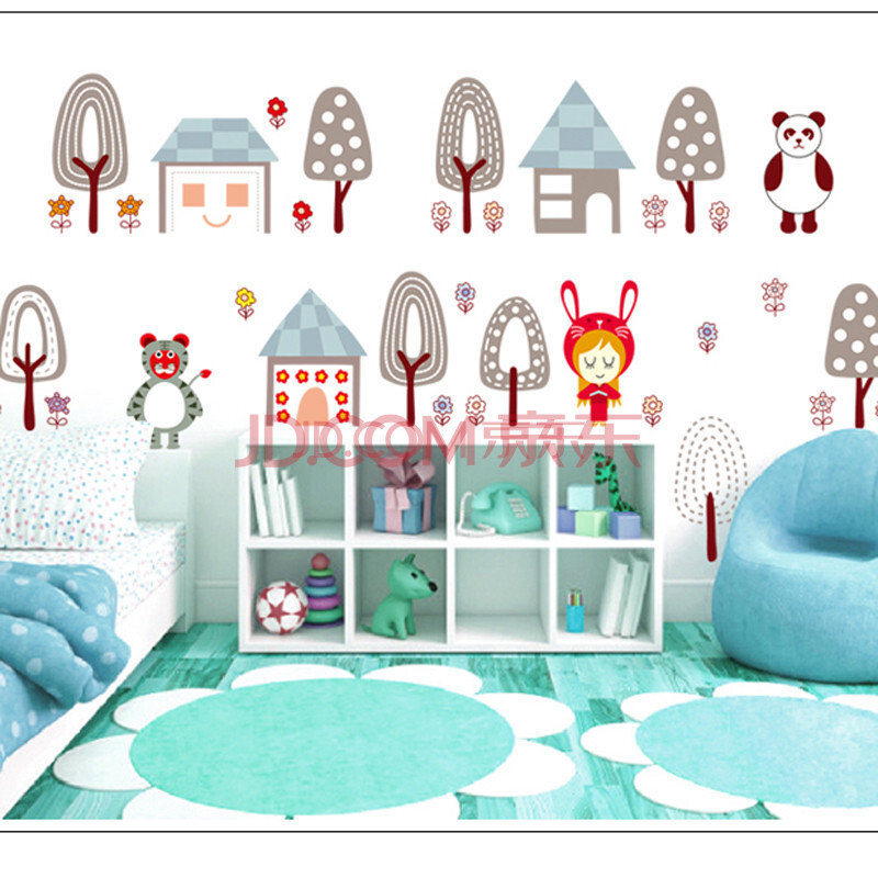 儿童卧室墙贴效果图