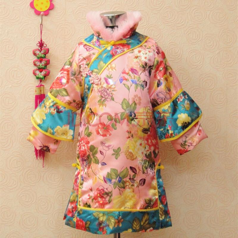 恰恰兔冬款儿童唐装格格装女童夹棉唐装儿童旗袍中式