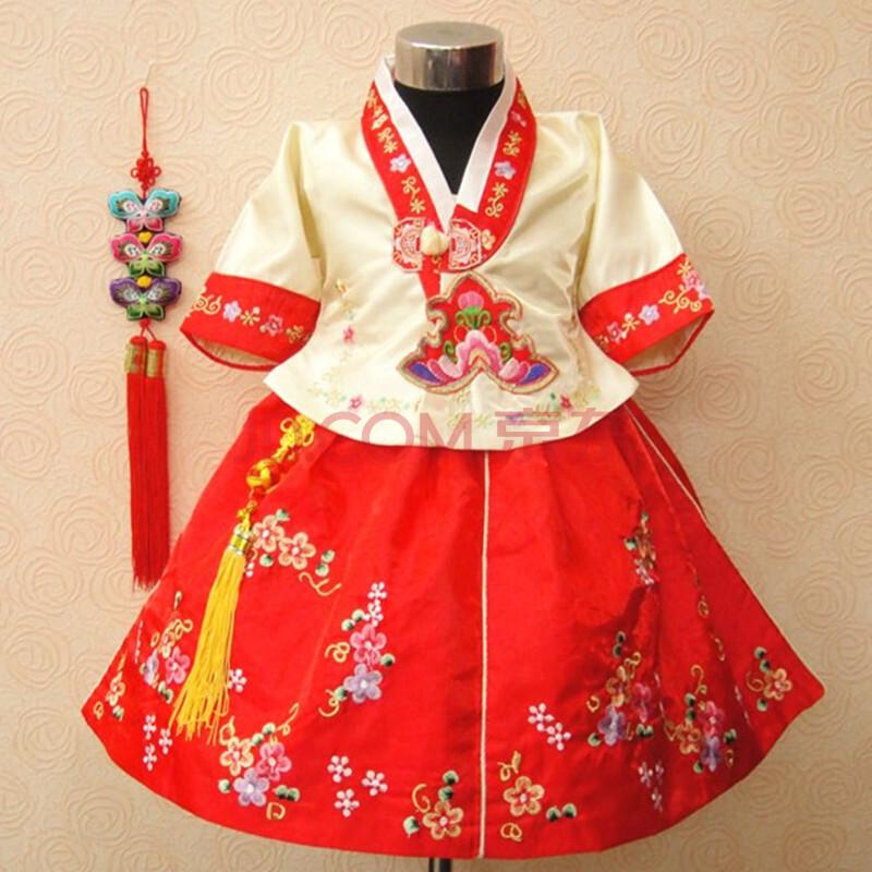 儿童礼服公主裙 女童民族装舞蹈服朝鲜族服装演出-甜美公主裙可爱公