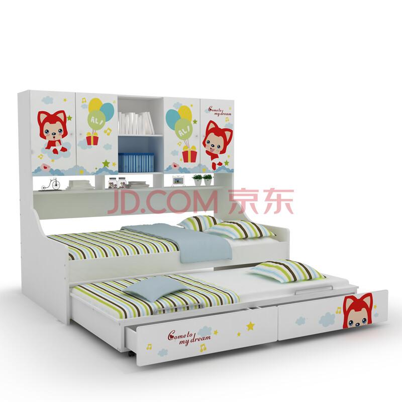 酷漫居儿童家具 阿狸欢乐时光侧柜床