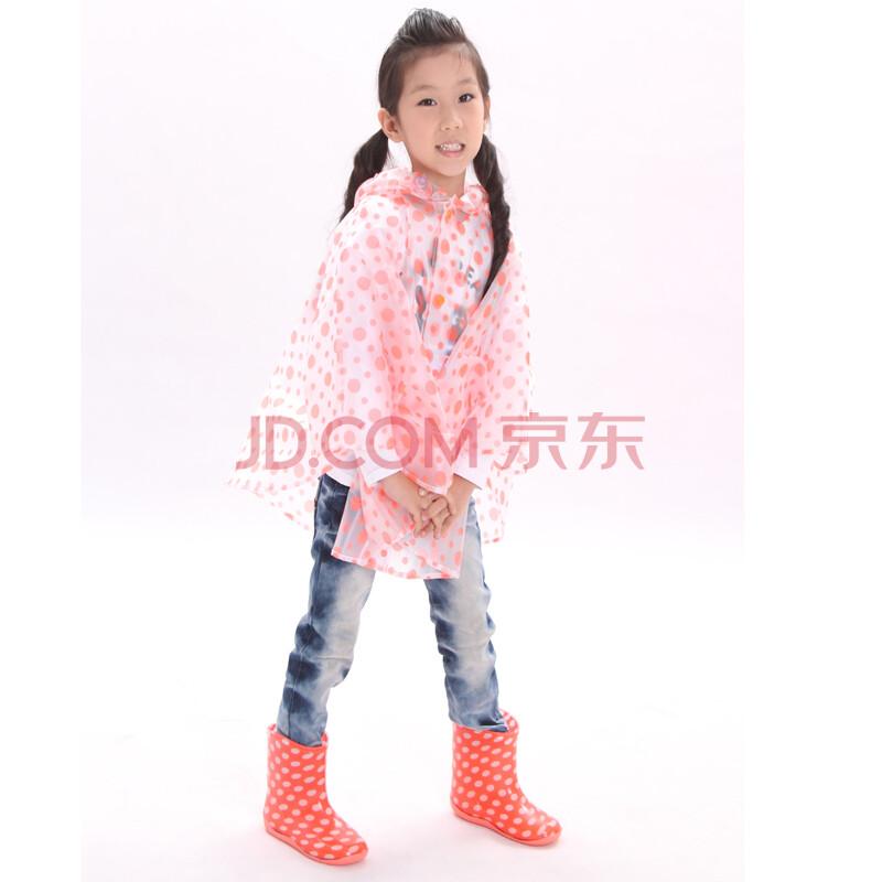 韩国时尚彩色儿童雨衣雨披