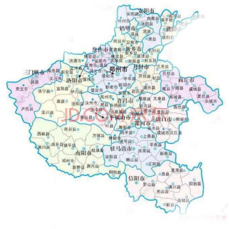 河南省地图(1:800000)