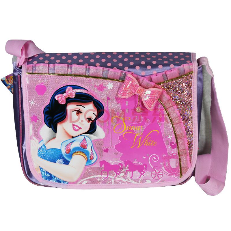 迪士正品白雪公主可爱女童单肩包儿童包包卡通小学生书包斜挎包sp2012