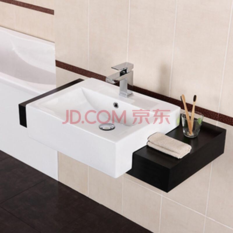 加斯顿gasdum 卫浴陶瓷台上盆艺术盆 时尚方形半嵌入式洗手盆浴室洗图片