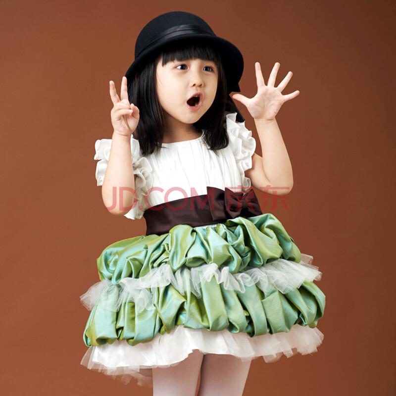 花童公主婚纱礼服裙儿童蓬蓬裙