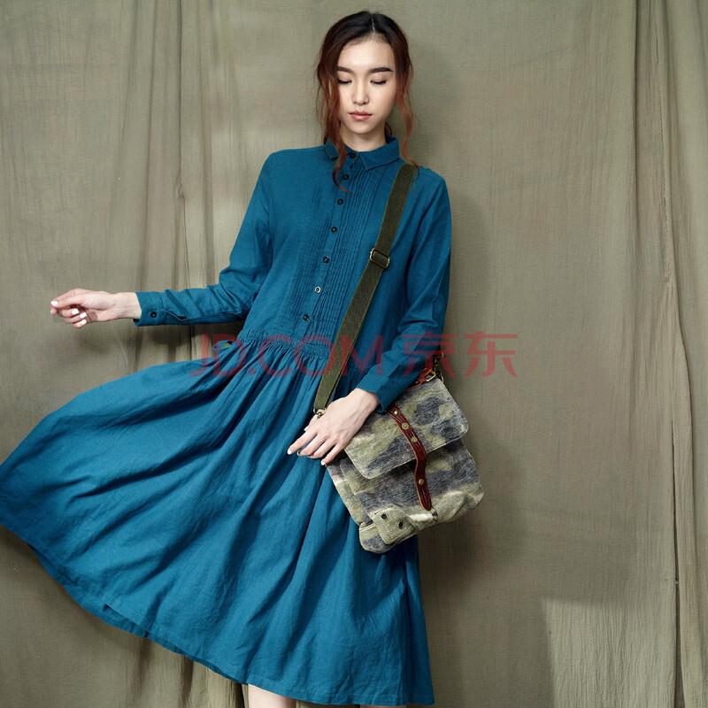 设计师品牌女装京品年货 森宿 迷彩少年 冬装新款 迷彩搭扣侧挎手提包图片