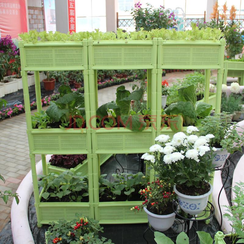 阳台种菜盆长方形家庭楼顶蔬菜园种植箱特大花盆塑料图片