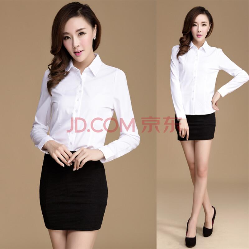 �y��ya�y�'��-yol_y 2014新款韩版修身ol通勤百搭长袖白色衬衫nb2026d2522 白色 s