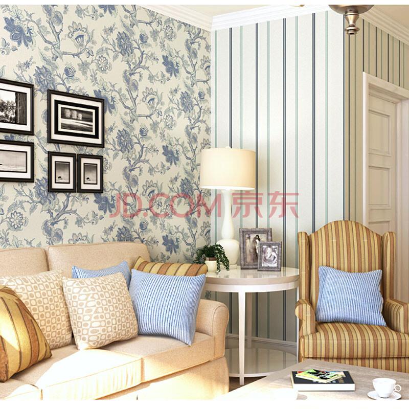 版卧室客厅壁纸 环保无纺布墙纸