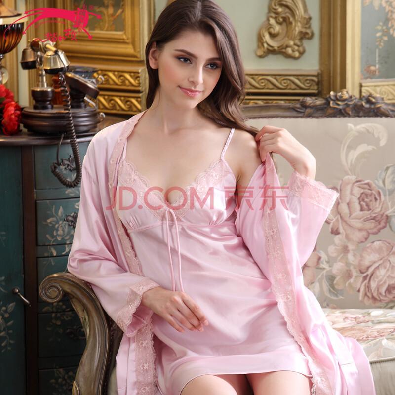 优雅女人睡衣性感女士仿真丝睡裙睡袍丝绸