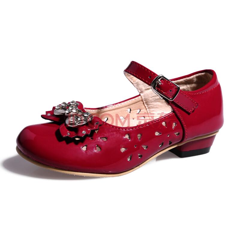 皮鞋凉鞋新款2013儿童韩版公主单鞋dfn6006