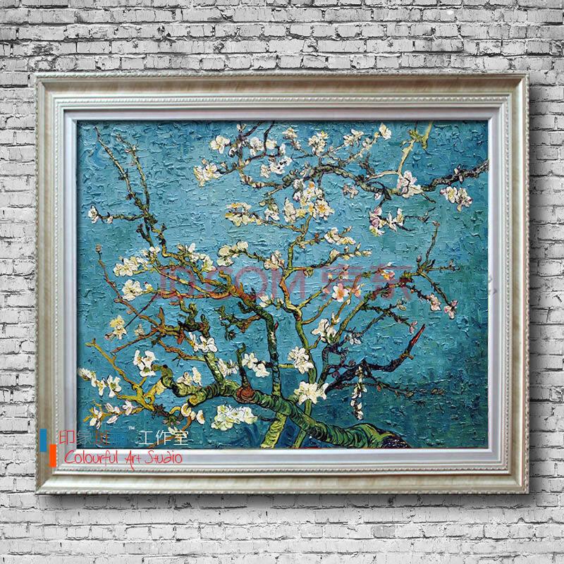 杏花 纯手绘油画