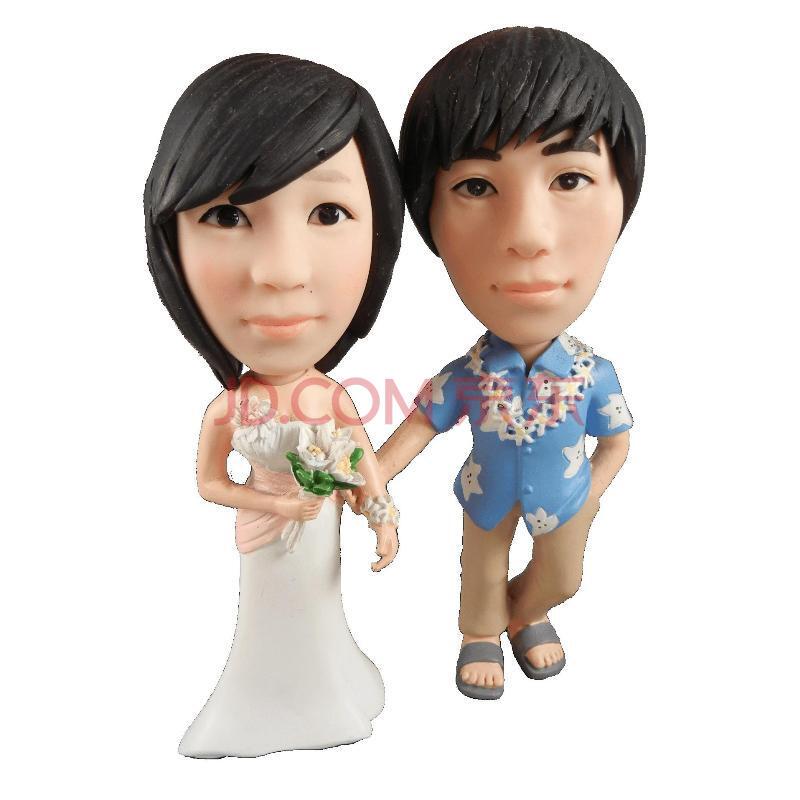 公仔/真人玩偶/泥人陶偶/卡通雕塑/夏威夷新郎新娘