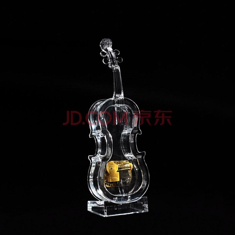 清凉音 亚克力小提琴音乐盒八音盒送女友生日礼物创意