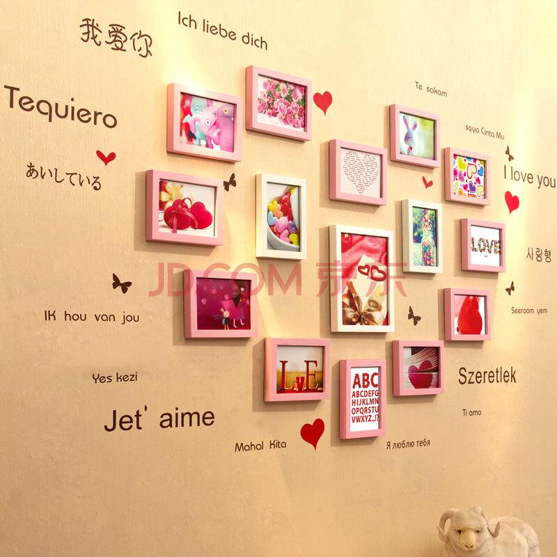 欧式客厅照片墙