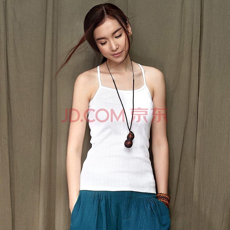 设计师品牌女装森宿 微雨 夏装新款 纯色全棉修身螺纹图片
