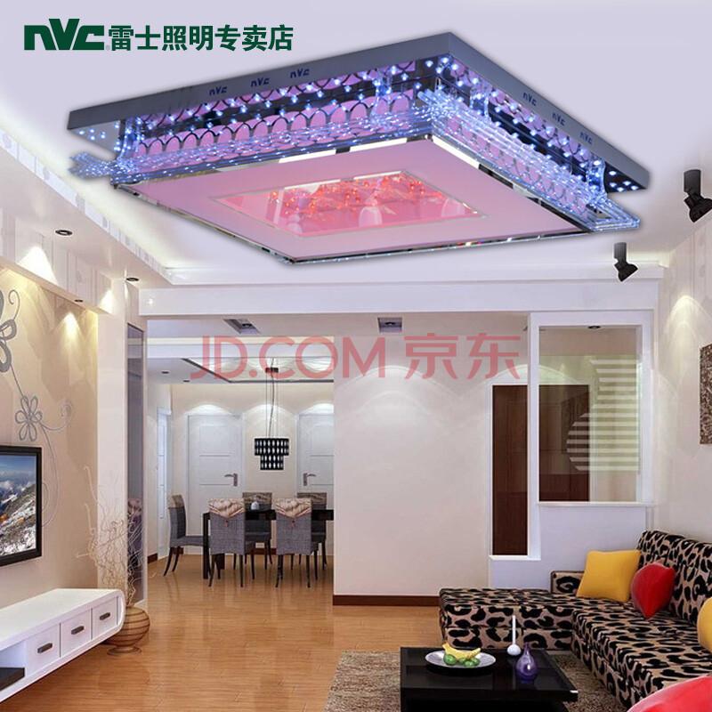 雷士nvc吸顶客厅餐厅卧室灯led水晶灯nvx2182/2*55内置分控
