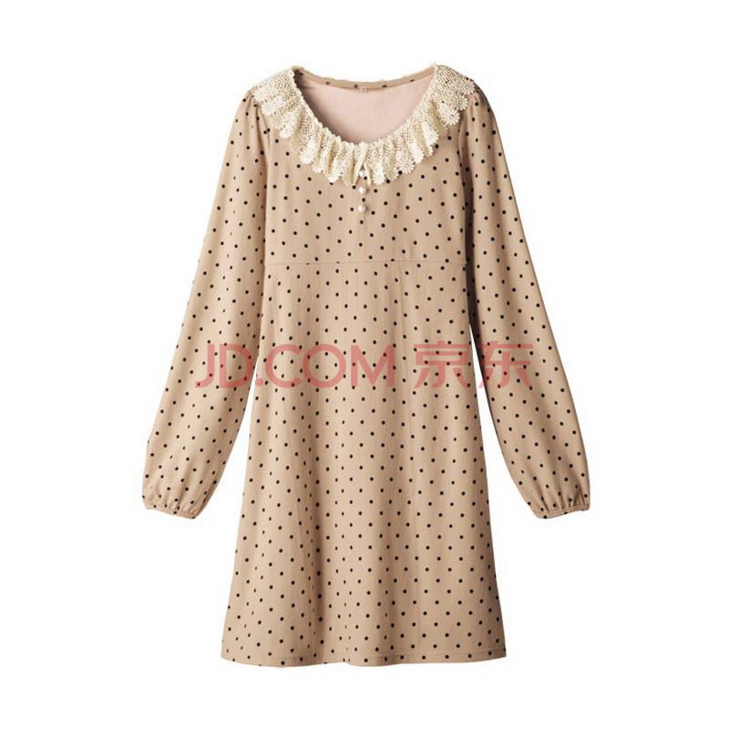 nissen日本大码女装秋装少女日系波点女式雪纺衫长袖
