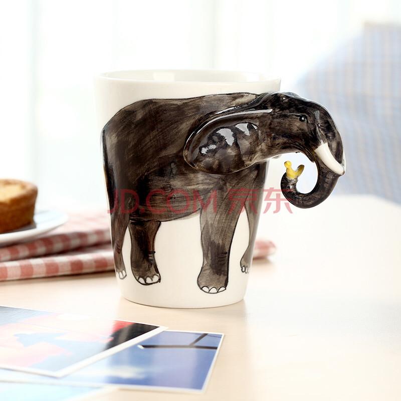 3d立体手绘马克杯 创意杯子 个性咖啡杯 奶茶杯 陶瓷动物杯 卡通个性