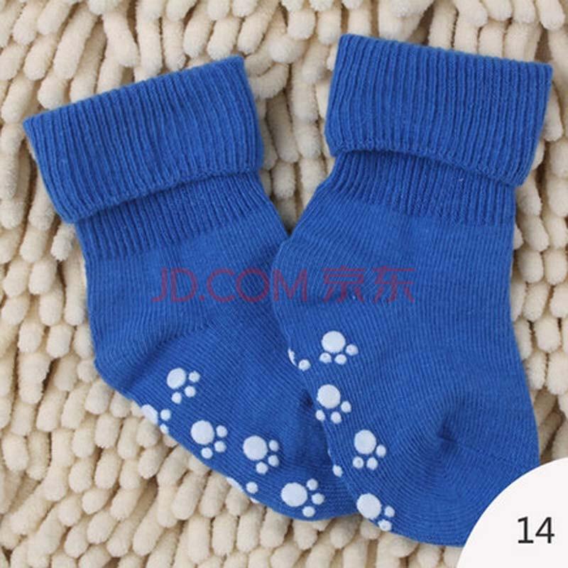 瑞蒂贝贝 可爱婴儿袜子薄 纯棉松口宝宝防滑地板袜 儿童夏天袜子男童