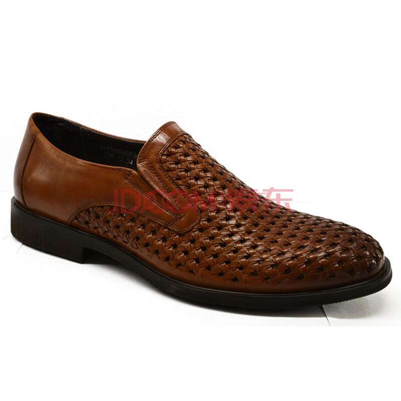 2013夏季新款 金利来男鞋 套脚时尚正装凉鞋G13004ABD黑 G13004DBD棕 棕色套脚 40