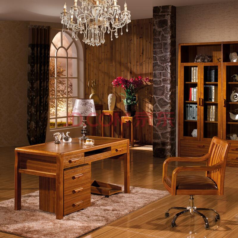 普上 实木书桌 电脑桌 办公桌 书房家具 简约电脑桌 现代中式书桌图片