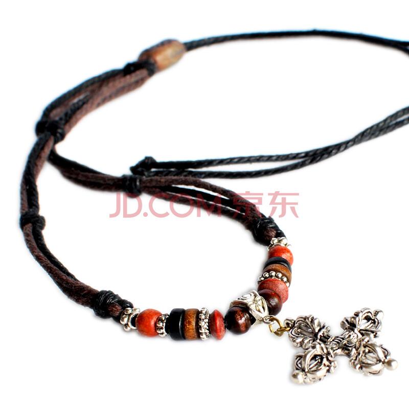 藏巴部落 原创 彰显魅力 男士项链 金刚杵绳编项链 藏饰护身项链 型男