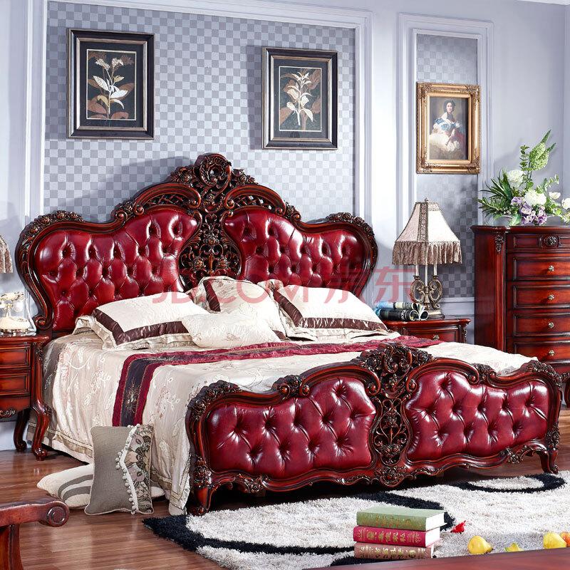 美伊尚品欧式家具欧式床美式床欧式深色家具1
