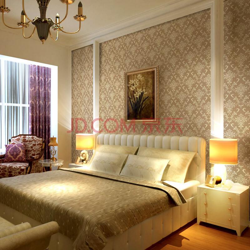 爱我品墙纸 欧式大马士革花环保壁纸