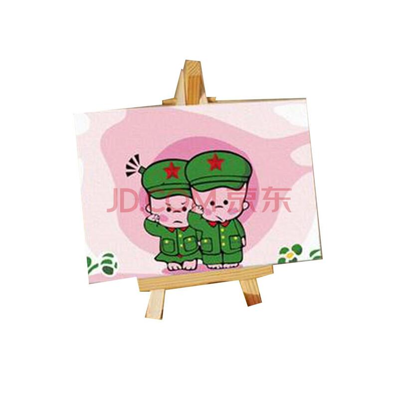 diy数字油画手绘儿童卡通迷你画