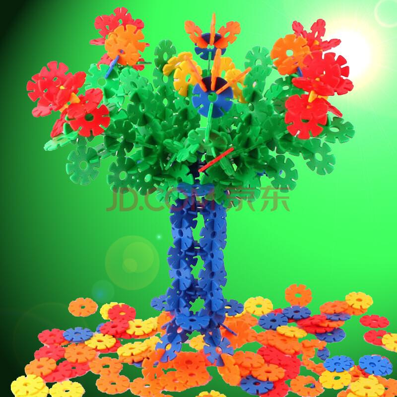 麦宝创玩具 数字雪花片 幼儿园雪花拼插片 儿童益智学习玩具眼手协调