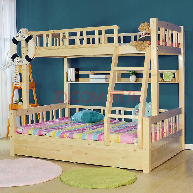雅霏--实木儿童床松木上下床高低床子母床双层床全床