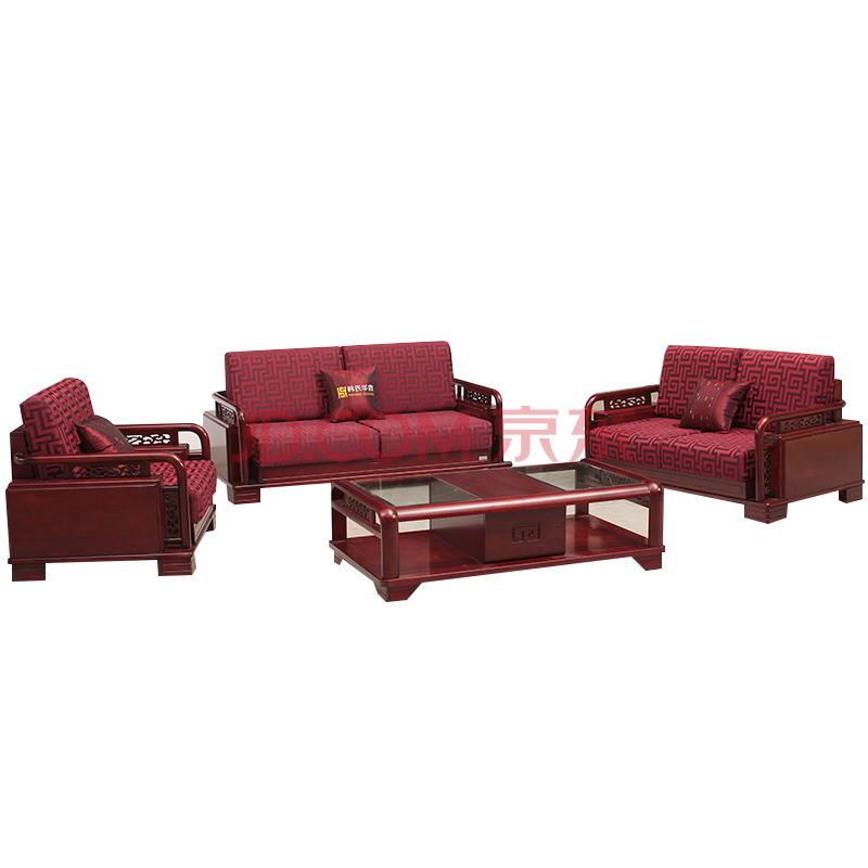 全顺实木家具 盛世华唐系列 实木沙发b-15 沙发1 2 3(含沙发罩)