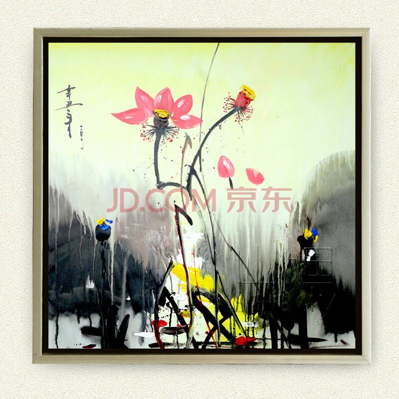 山迪 手绘油画 新中式客厅装饰画 玄关挂画餐厅壁画无