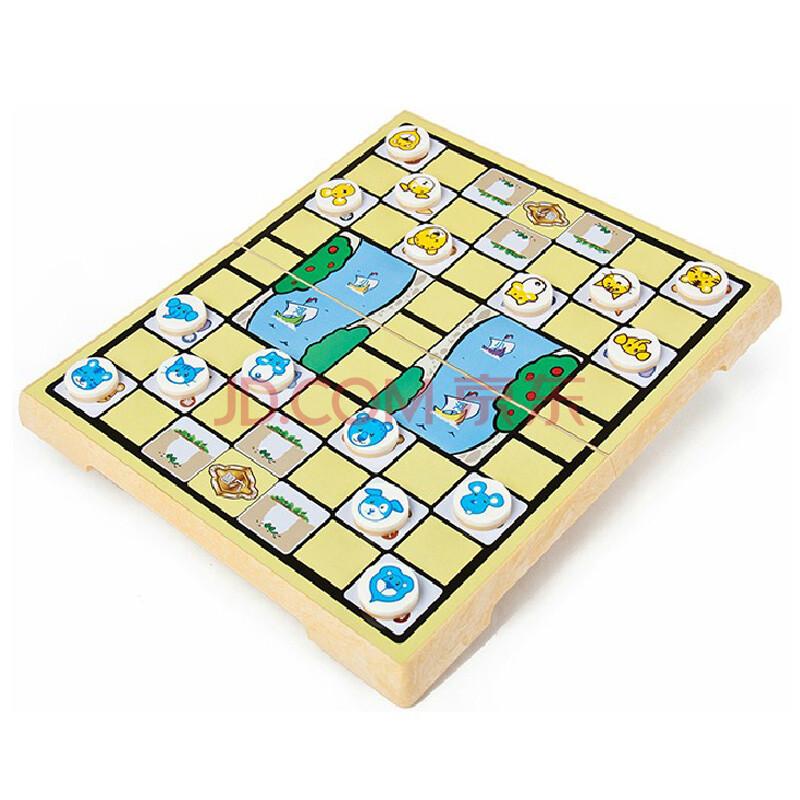 桌飞卡通斗兽棋动物磁性折叠棋盘儿童游戏棋 80后怀旧经典玩具 圆角