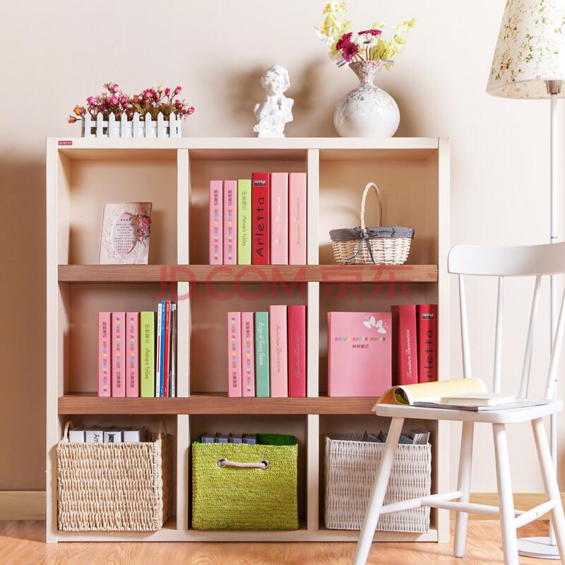 儿童书柜书架置物架经典彩色系50mm横板简易简约时尚