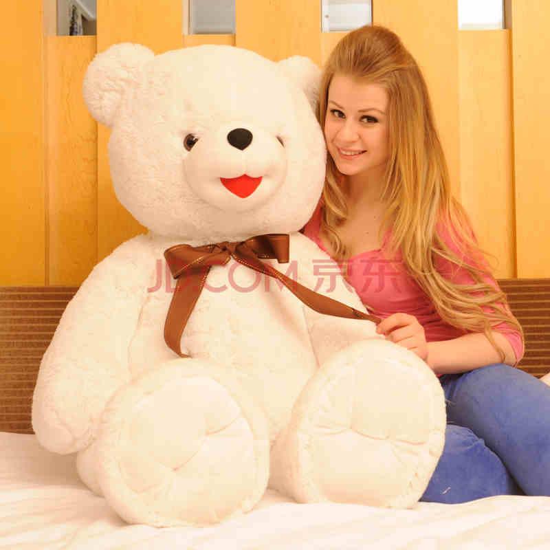 情人节1.8米泰迪熊布娃娃熊生日熊毛绒玩具超大抱抱熊155娃娃脸矮个子时尚博主图片
