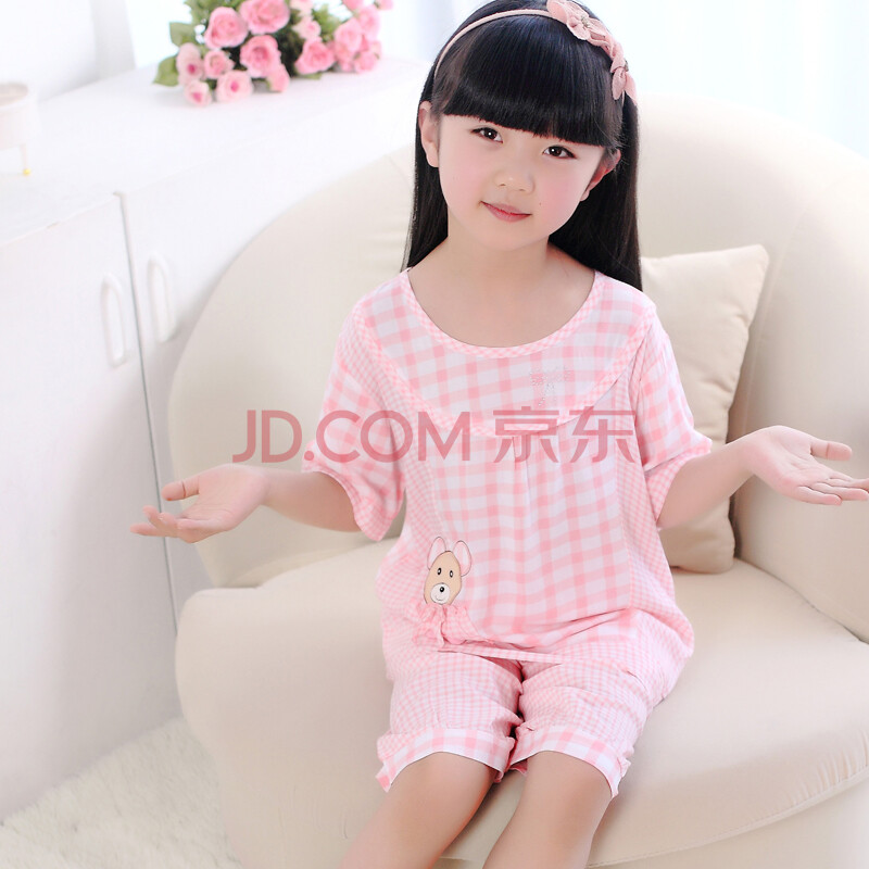 儿童睡衣 纯棉可爱女孩睡衣夏季凉爽家居服