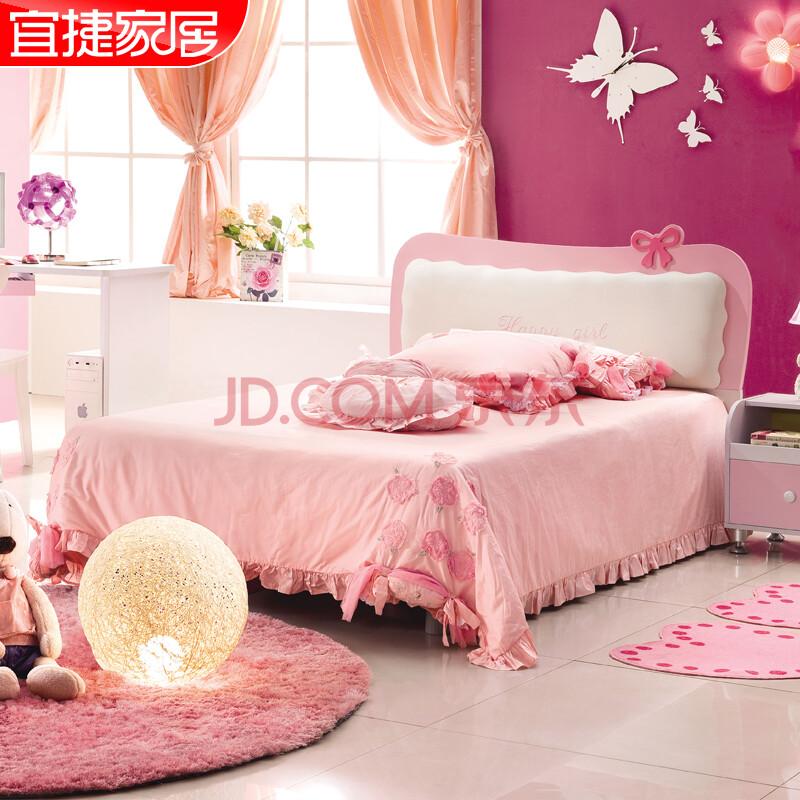 粉色儿童套房图片