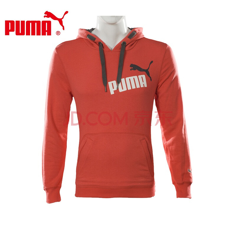 puma 彪马 男 针织外套 连帽针织卫衣 820967 甜红-黑