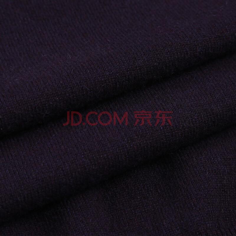 年终热卖 雪莲羊绒京品年货 纯素色高樽领男款纯羊绒套头打底衫秋冬新款保暖毛衣 紫色N8M2 110