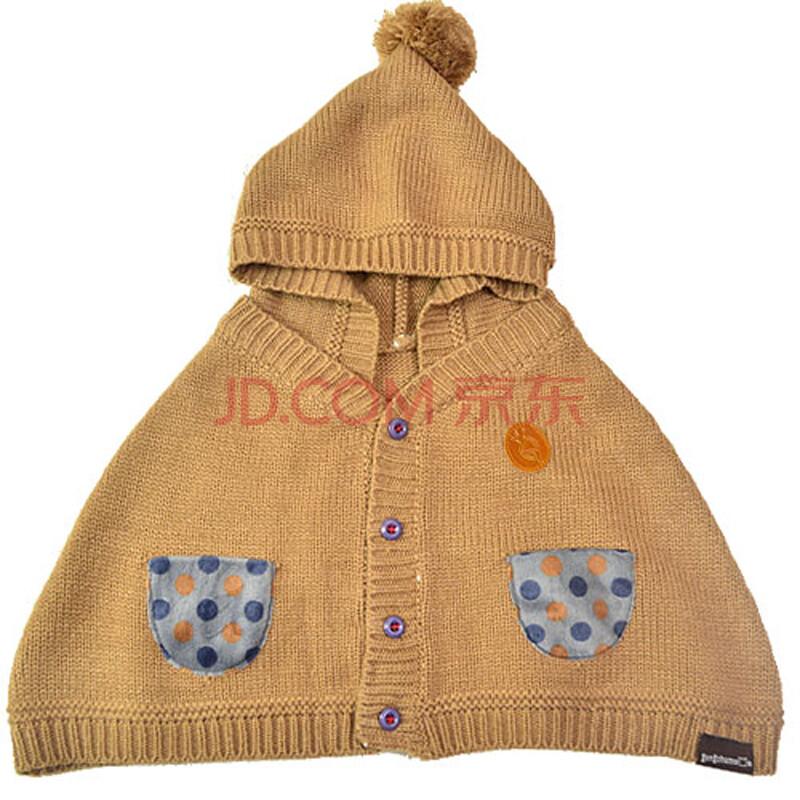 围脖婴儿连帽披肩儿童围巾带围脖外套披风斗篷加绒