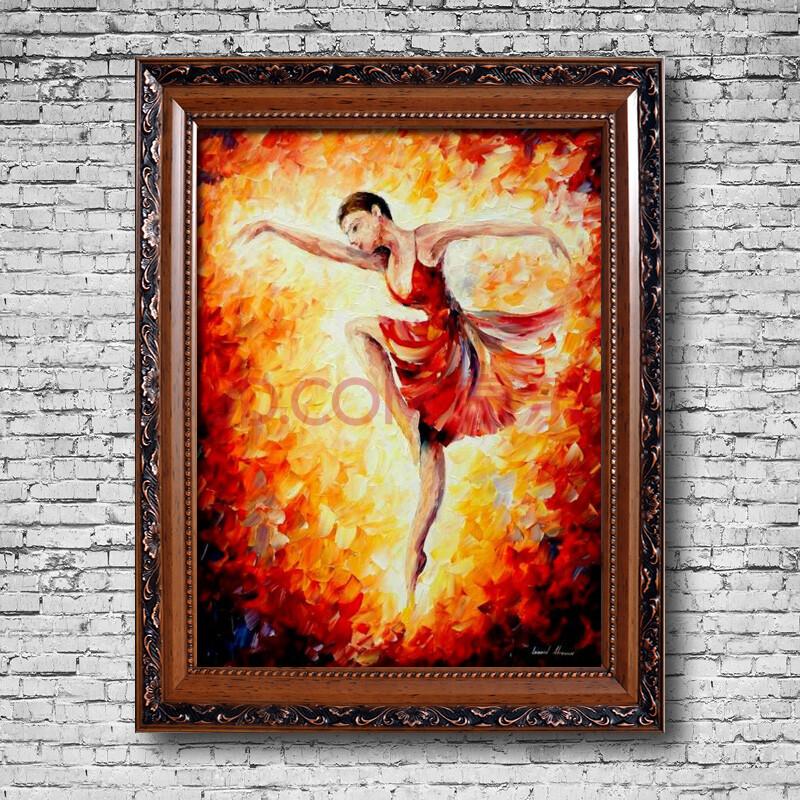 芭蕾舞者 纯手绘油画 刀画
