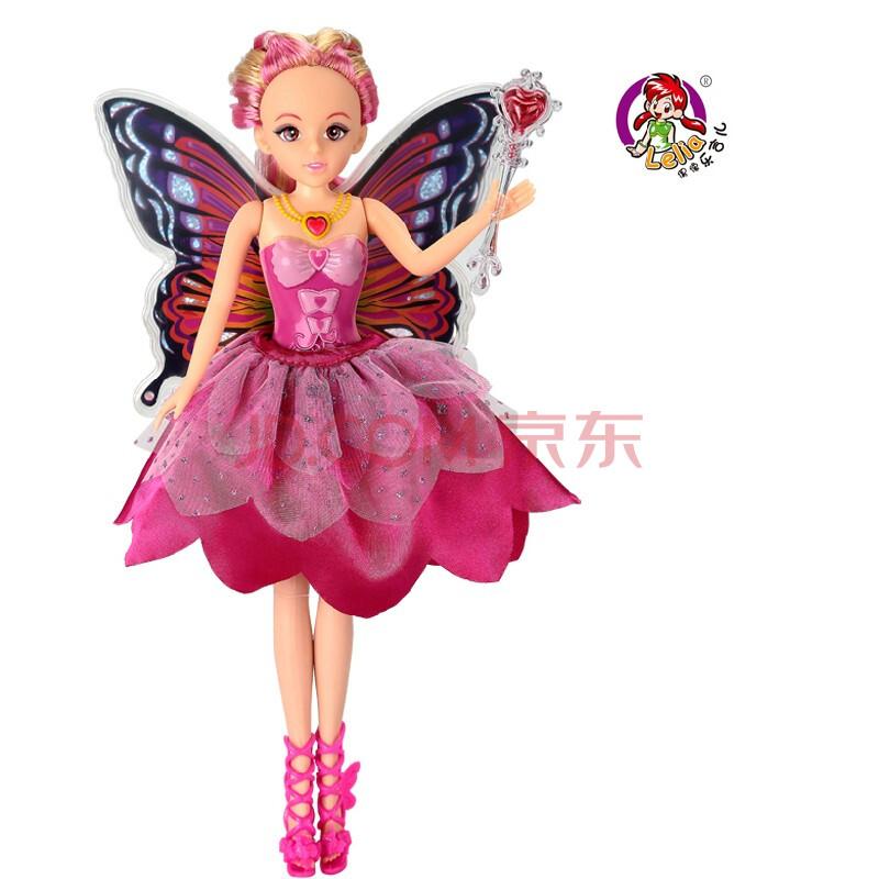 新款蝴蝶仙子布洋芭比娃娃套装礼盒2013可儿女孩玩具