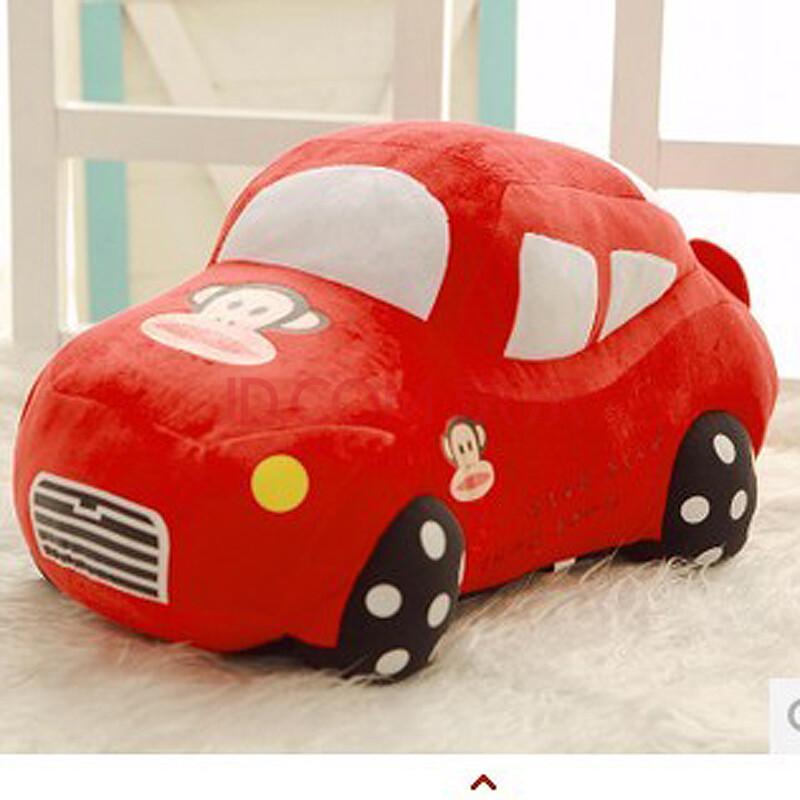 毛绒玩具卡通可爱 儿童小汽车玩具抱枕靠垫