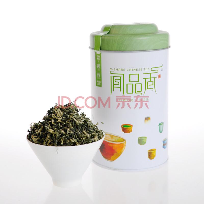 闻品香 碧螺春 罐装 绿茶 100g 正宗洞庭名茶 特级 茶叶 特价 买一送一
