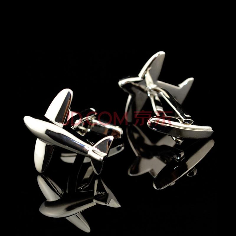新【英博】飞机战机星球大战骷髅趣味造型法式袖扣商务衬衣法式衬衫